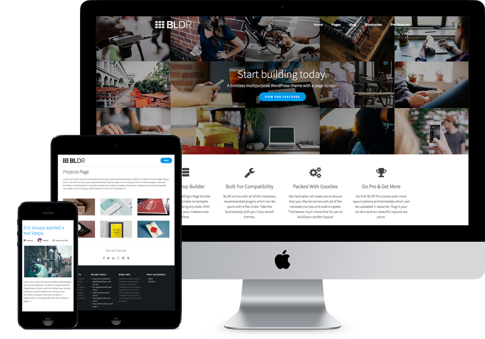 Bldr modern themes for What wordpress template is this