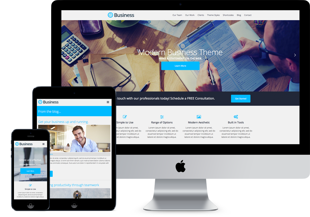 Business modern themes business free wordpress theme flashek Image collections