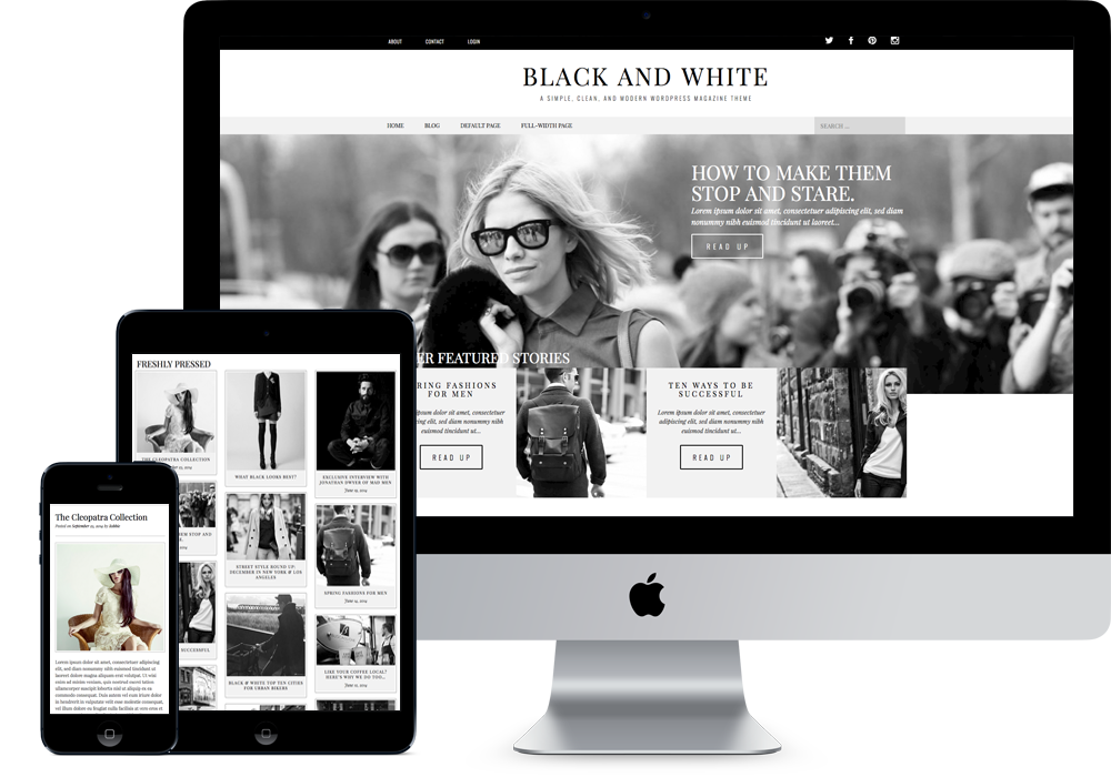 modern black white. plain black to modern black white